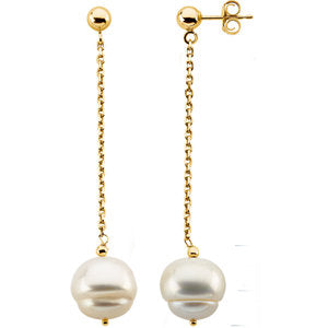 Freshwater Cultured Pearl Dangle Earrings