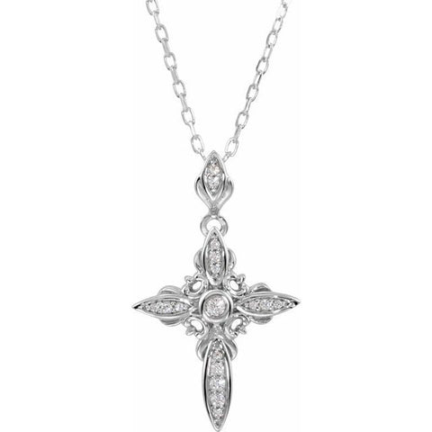 Vintage Style Cross Necklace