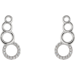 Diamond Climber Earrings