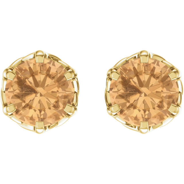 Honey Topaz Stud Earrings