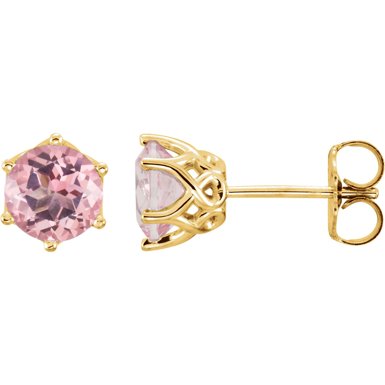 Baby Pink Topaz Earring