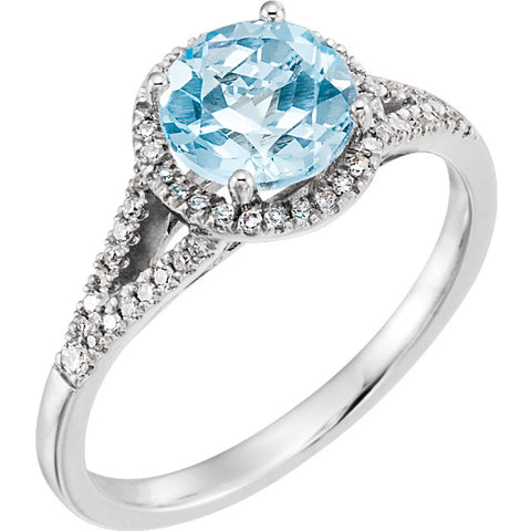 Topaz Round Brilliant Cut Ring