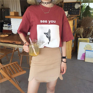 """see you"" t-shirt"