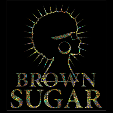 "Brown Sugar Silver Hologram Soft Metallic Vinyl (10x8.75"") Bling Shirt - Bling By Bates"