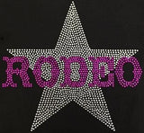 Rodeo Star Pink (9x9.5) Rhinestone Bling Shirt - Bling By Bates