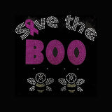 "Cancer Save the Boo-Bees (8x8.25"") Rhinestone Bling Shirt - Bling By Bates"