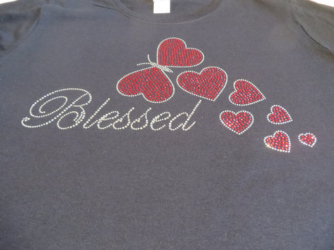 Blessed with Butterflies - Rhinestone Bling Shirt - Bling By Bates