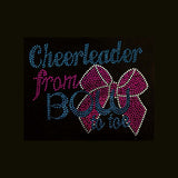 "Cheerleader From BOW to Toe (6.25x8"") **LAST 2** Rhinestone  Shirt - Bling By Bates"