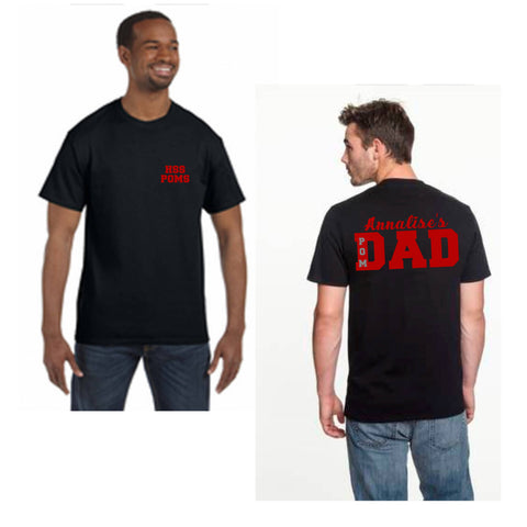 Custom - Dad Shirt (Add your school)  This can be on front or back - Bling By Bates