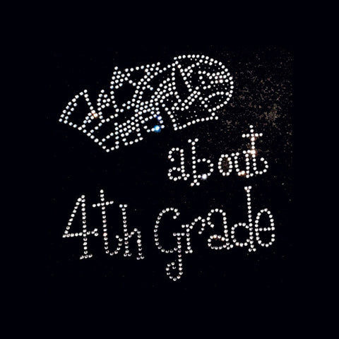 "Wild About 4th Grade (8x7.5"") Rhinestone Bling Shirt - Bling By Bates"