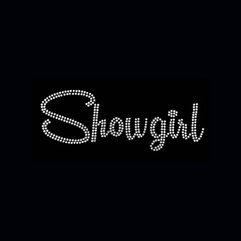 "Showgirl (3x8.25"") Rhinestone Bling Shirt - Bling By Bates"