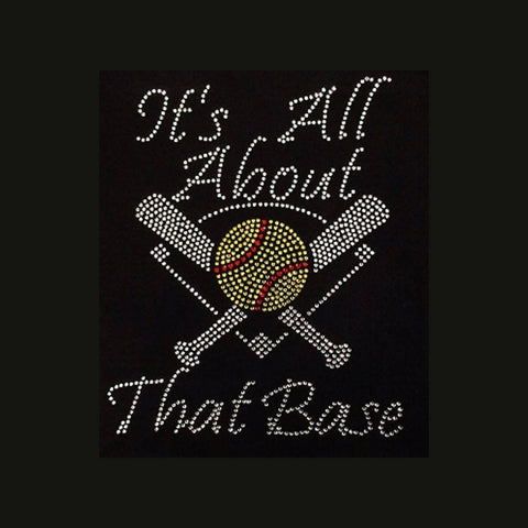 It's All About That Base (9.75x8) Rhinestone Shirt - Bling By Bates