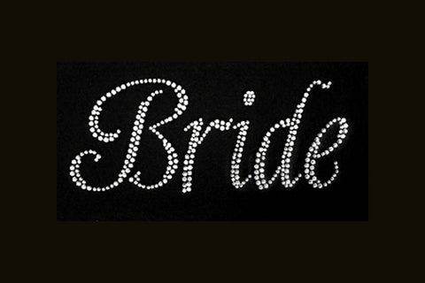 Bride (4x9)  Rhinestone Bling Shirt - Bling By Bates
