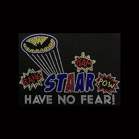 "STAAR Have No Fear (6.75x9.5"") Rhinestone Bling Shirt - Bling By Bates"