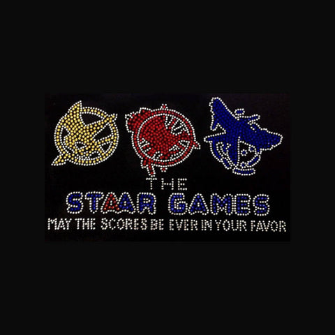 "STAAR Games (5.75x9.5"") Rhinestone Bling Shirt - Bling By Bates"