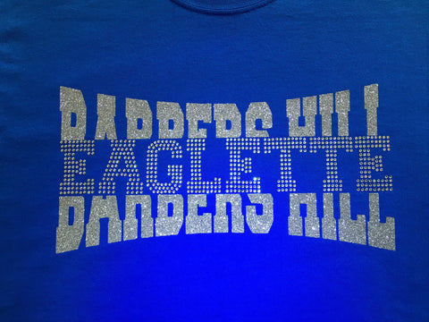 Drill Team - Barbers Hill Eaglette Bling Shirt - Customize - Bling By Bates