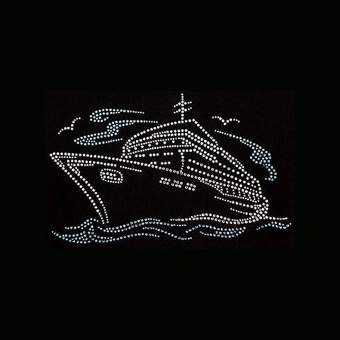 "Cruise Ship (6x9.25"") Rhinestone Shirt - Bling By Bates"
