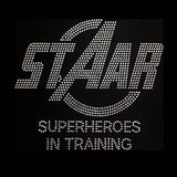 "STAAR Super Heroes In Training (7.75x9"")  Rhinestone Bling Shirt - Bling By Bates"