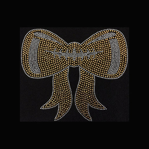 "Football Bow (7x8"") Rhinestone Bling Shirt - Bling By Bates"