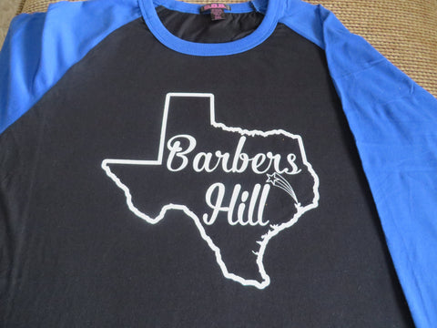 Your Town or School in Your State - Glitter, Plain or Metallic Vinyl Shirt - Bling By Bates
