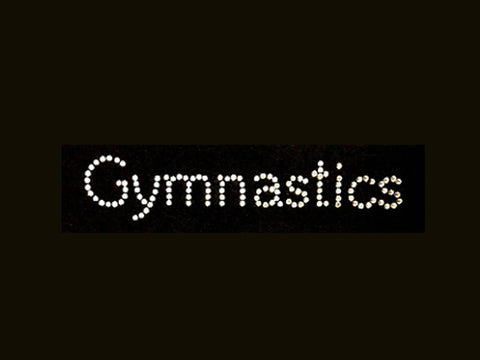 Gymnastics (0.75x4.5) Rhinestone Shirt - Bling By Bates