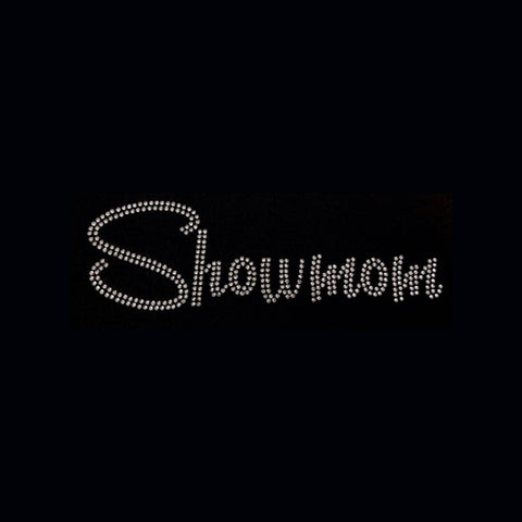 "Showmom (3x9"") Rhinestone Bling Shirt - Bling By Bates"