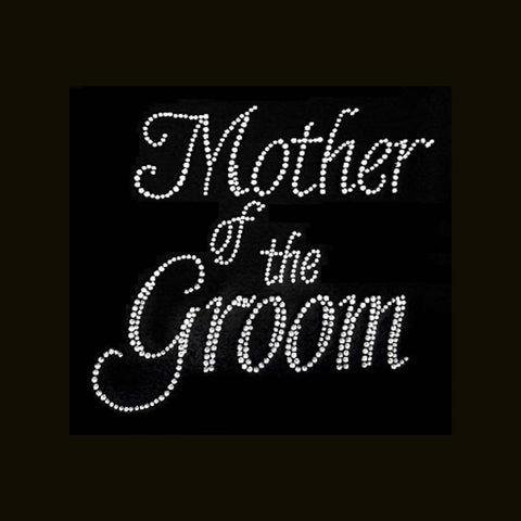 Mother of the Groom  (8.5x9) Rhinestone Bling Shirt - Bling By Bates