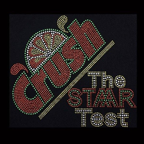"Crush The STAAR Test (7.5x8.5"") Rhinestone Bling Shirt - Bling By Bates"