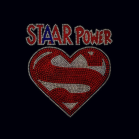 "STAAR Power (9.25x9"")  Rhinestone Bling Shirt - Bling By Bates"