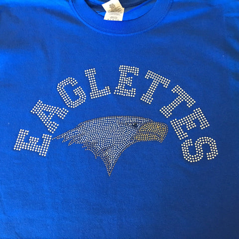 Barbers Hill Eaglette Rhinestone Bling Shirt - Bling By Bates