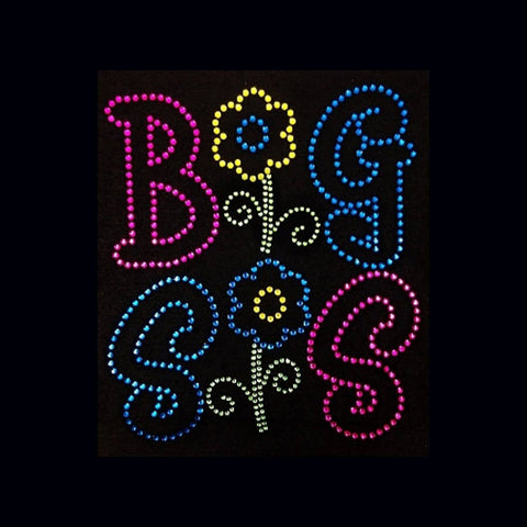Big Sis (8.25x7.5) Rhinestone Bling Shirt - Bling By Bates