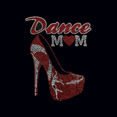 Dance Mom Stiletto (10x7.75) Rhinestone Shirt - Bling By Bates