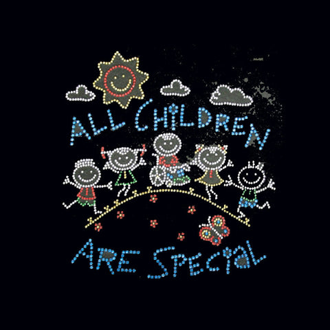 "All Children Are Special (9x8.5"")  Rhinestone Bling Shirt - Bling By Bates"