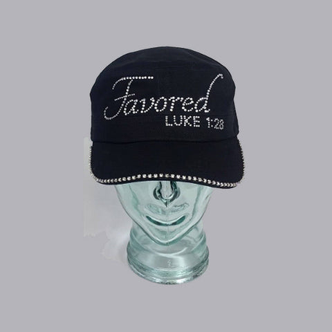 Favored With Swarovski Brim Edge - Bling By Bates