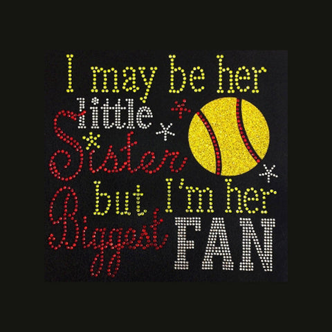 Little Sister (8x8) Rhinestone & Glitter Vinyl Shirt - Bling By Bates