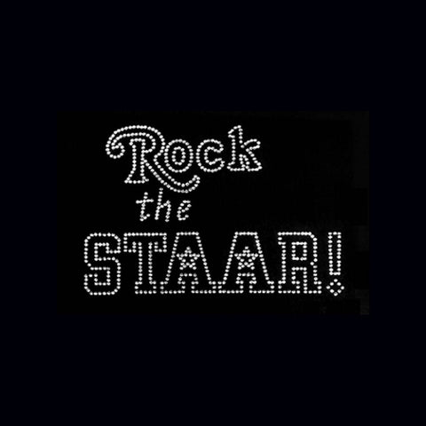 "Rock the STAAR (6x9"")  Rhinestone Bling Shirt - Bling By Bates"