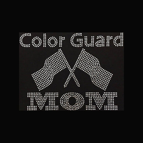 "Color Guard Mom (7x9"") Rhinestone Bling Shirt - Bling By Bates"