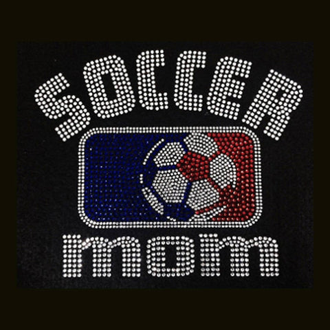 "Soccer Mom (7x8.25"") Rhinestone Bling Shirt - Bling By Bates"