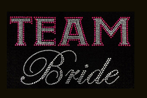 Team Bride (5x9) Wedding Rhinestone Bling Shirt - Bling By Bates