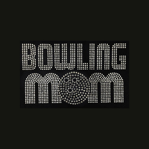 "Bowling Mom (5x8.5"") Rhinestone Bling Shirt - Bling By Bates"