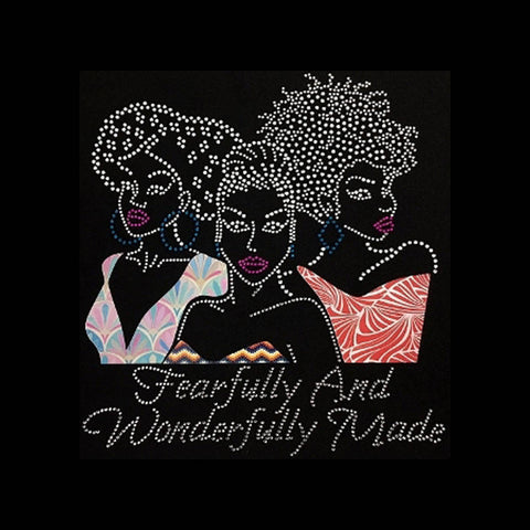 "Fearfully & Wonderfully Made (9x10.25"") Rhinestone & Printed Vinyl Shirt - Bling By Bates"
