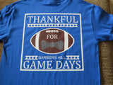 Thankful for Game Days, Football  Shirt - Add your school name. - Bling By Bates