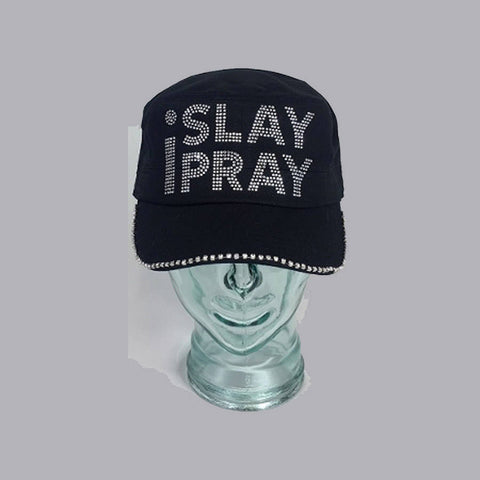 iSlay iPray  With Swarovski Bling on Brim Edge - Bling By Bates