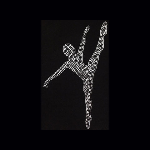 Dancer Silhouette (11x7) Rhinestone Bling Shirt - Bling By Bates