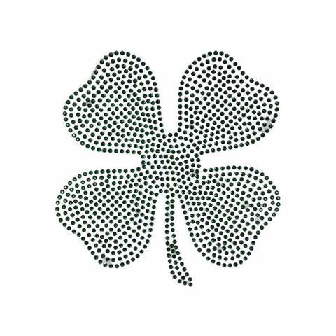 "Four Leaf Clover (8x8"") St. Patrick's Day Rhinestone Shirt - Bling By Bates"