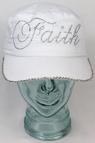 Faith With Swarovski Brim Edge - Bling By Bates