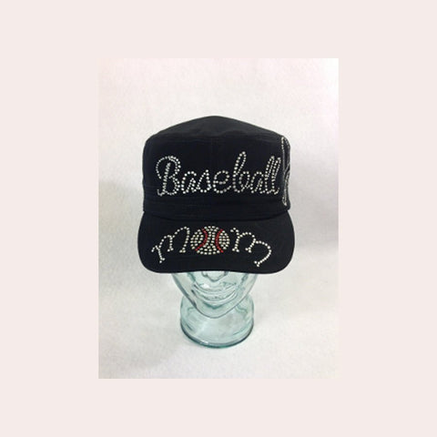 Baseball Mom with Bats Cap - Bling By Bates