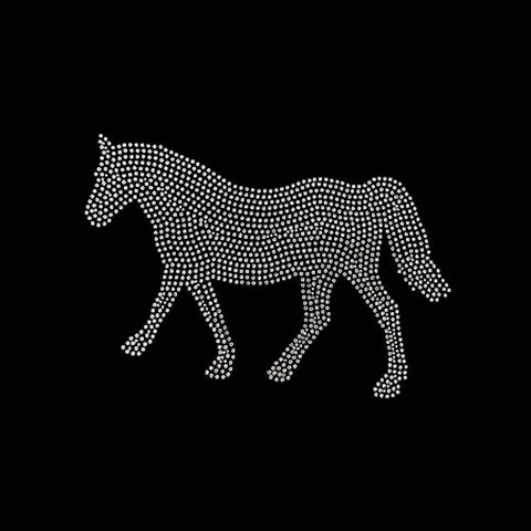 Horse, Filled (5.75x9.75) Rhinestone Bling Shirt - Bling By Bates