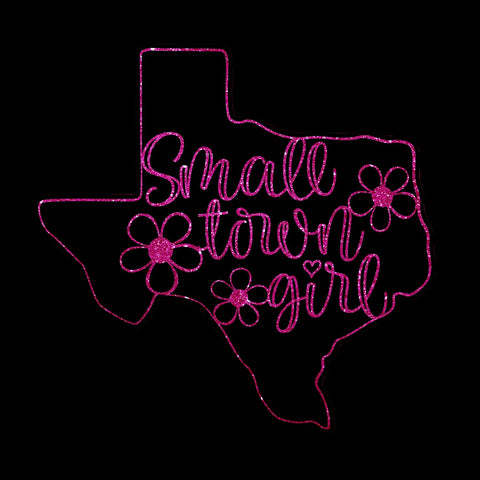 Small Town Girl - Metallic, Glitter, or Plain Vinyl Bling Shirt - Bling By Bates