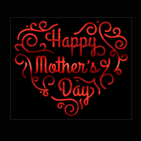 "Happy Mother's Day (8.5x10"") Soft Red Metallic Vinyl Bling Shirt - Bling By Bates"